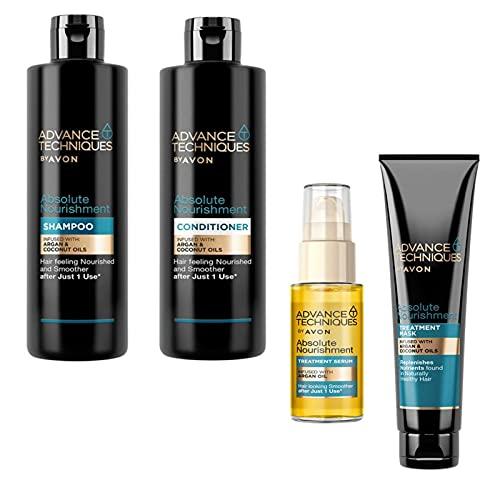 Avon Haarpflegeserie mit Arganöl Absolute Nourishment Shampoo 250ml Conditioner 250ml Pflegeöl 30ml Haarmaske 150ml für trockenes geschädigtes Haar
