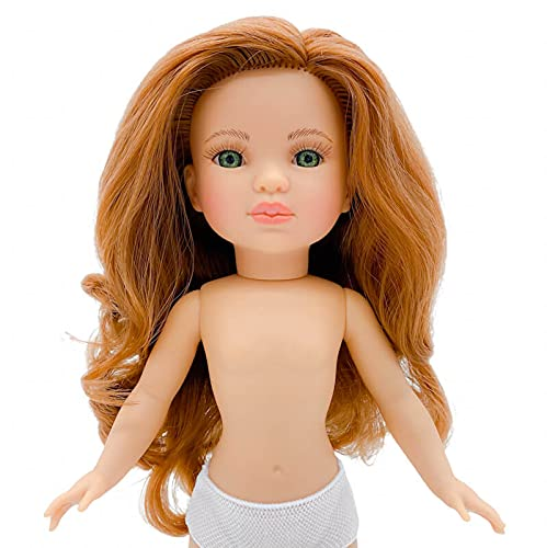 Nueva muñeca Simona 2021 Desnuda de 40 cm edición Limitada 100% Vinilo. Hermana de Sintra Fabricada en España por Folk Artesanía. Similar Nancy Famosa (Pelirroja Ojos Verdes)