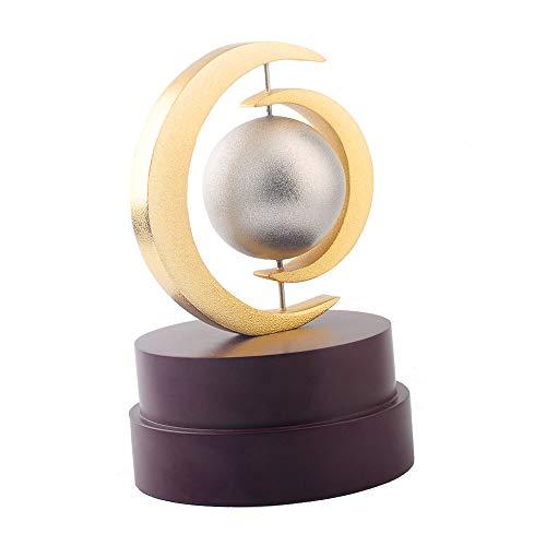 LBSST Trofeo de metal personalización creativa nueva galvanoplastia de dos colores Trofeo de reunión anual premios adornos de negocios conmemorativos