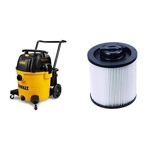 DeWALT 14 Gallon Poly Wet/Dry Vac & Cartridge Filter- Regular 6-16 gal.