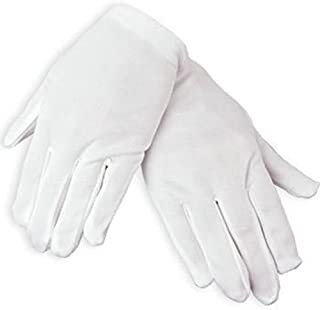 Adult's White Polyester Gloves, Formal White Dress Gloves for Adults Costume Art Uniform Party Show