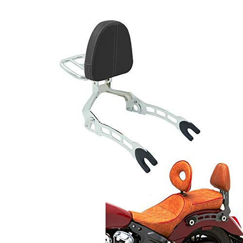 COPART Detachable Backrest Sissy Bar with Luggage Rack For Indian Scout Sixty 2015-2019