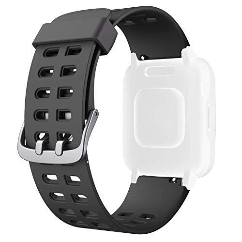 ID205 ID205L band, verstellbar, weiches Silikon, Smartwatch, armband für ID205L ID205 Sport Fitness Tracker Smart Watch Armband (schwarz)