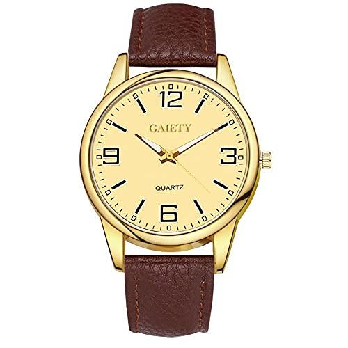 SUYANG Reloj De Cuarzo Reloj Analógico Reloj De Pulsera Mujer Noble Lujo Dial Redondo PU Correa Reloj De Cuarzo Vestido De Pulsera De Vestido (marrón)