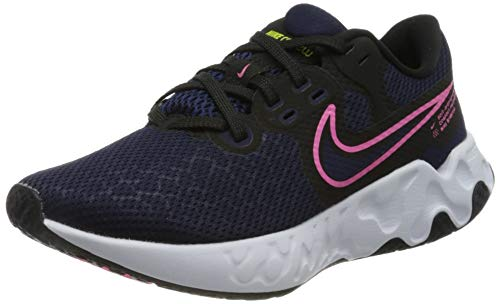 Nike Women's WMNS Renew Ride 2 Running Shoe, Blackened Blue Sunset Pulse Black Cyber, 6 UK