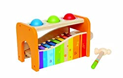Hape - Pound & Tap Bench with Slide Out Xylophone