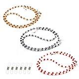 Hifot Correa Gafas 3 Piezas, Perlas Cuerda Gafas de Sol, Retenedor Cadenas Gafas Lectura Gafas Decorativas Cadena de Cuello para Mujer