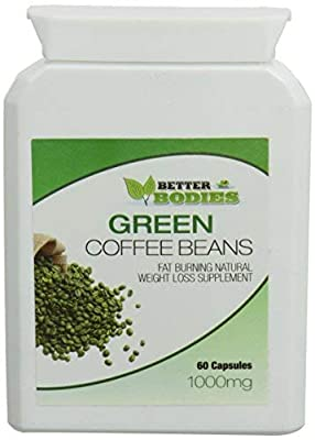 Better Bodies 1000 mg Green Coffee Bean Extract Per Capsule from Bionutricals