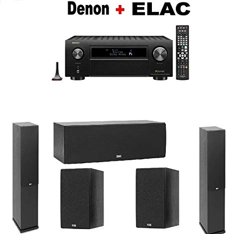 Great Deal! Denon AVR-X6500H 11.2-Channel 4K AV Receiver + Pair of ELAC F6.2 Floorstanding + ELAC C6...