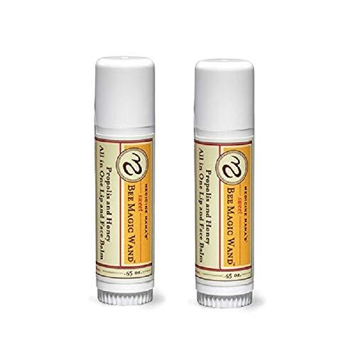 Medicine Mama's Sweet Bee Magic Organic Lip Balm, Chapstick, & Face Balm, 0.65 oz, 2Count