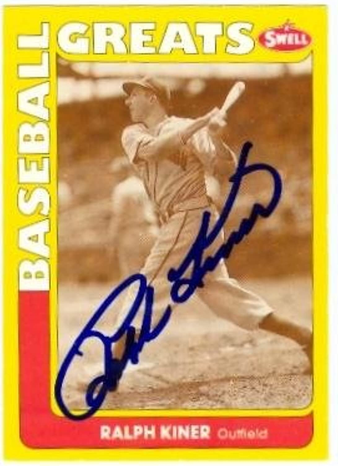 Ralph Kiner autographed Baseball Card (Pittsburgh Pirates) 1990 Swell Legends Card  Autographed Baseball Cards