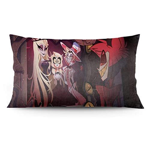 Zhaoyang - Funda de almohada Alastor y Lucifer, funda de almohada con diseño de anime, chorro, cama, sofá (20 x 36 pulgadas)