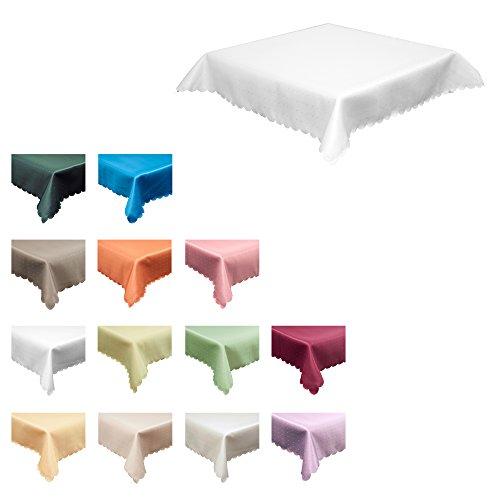 Maltex24 Damast textiel tafelkleed - punt-patroon - zware kwaliteit
