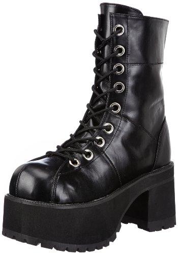 Demonia Ran301/B/Pu voor dames Combat laarzen