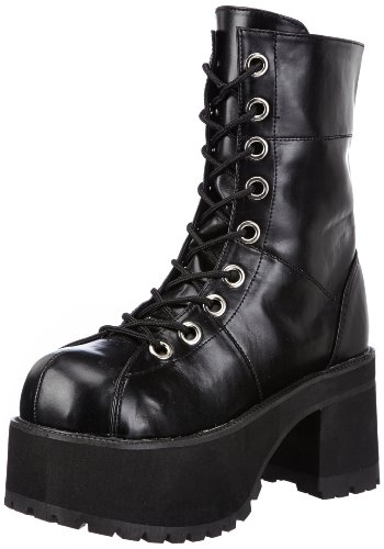 Demonia RANGER-301 Damen Stiefel, Schwarz (Blk Vegan Leather), EU 37 (UK 4) (US 7)