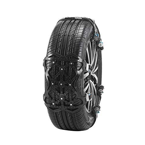 TTLIFE Cadenas de neumáticos 6 Piezas de Ancho Ajustable 165-285 mm Cadenas de Nieve para neumáticos Cadena de Nieve de TPU Mejorada portátil fácil de Instalar para Coche/camión/SUV (Negro)