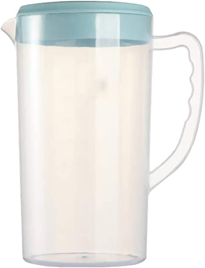 Cabilock Plastic Pitcher Round Fashion Clear Jug Lid 5 popular Water with