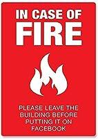 屋外の装飾、火の場合アート安全性のセキュリティ警告おかしい-警告注意通知安全標識屋外での使用のための金属金属の標識アルミニウムおかしい警告標識ガレージの装飾標識