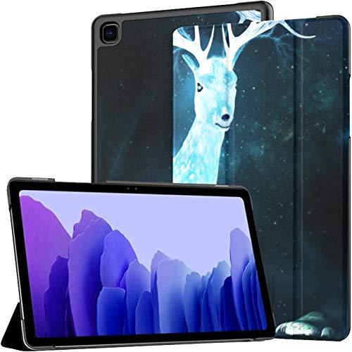 Funda de piel sintética para Samsung Galaxy Tab A7 de 10,4 pulgadas, diseño de ciervo mágico sobre cuento de hadas