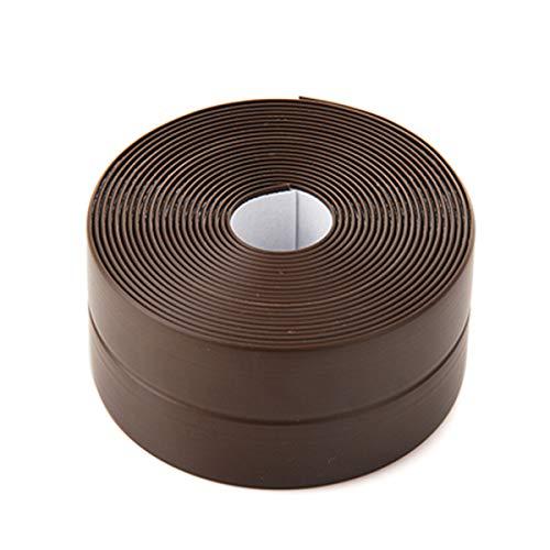 NCONCO - Tira de sellado de 3,2 x 22 mm, para pared de baño, esquina de lavabo, a prueba de moho, resistente al agua, autoadhesiva, para parachoques, marrón, 1165737/120508FWIW