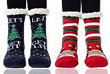 Winter Fuzzy Socks for Women Warm Soft Cozy Fleece-lined Slippers Socks With Grippers