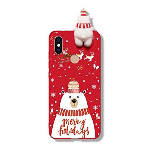 Pnakqil Funda para Xiaomi Redmi Note 9s / Redmi Note 9 Pro Silicona Carcasa con Dibujos Navidad 3D Diseño...
