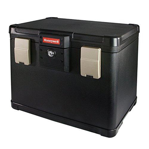HONEYWELL Caja Ignifuga para Documentos, Impermeable Incombustible Caja para DIN A4, Incluye 6 archiveros, Carpetas y Bolsas Colgantes, 40,7 x 32 x 32,9 cm