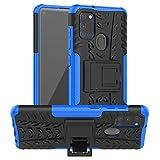 betterfon Hülle für Samsung Galaxy A21S - Handyhülle Samsung A21S Schutzhülle Silikon Hülle Cover mit [Standfunktion] für Galaxy A21S SM-A217F Blau