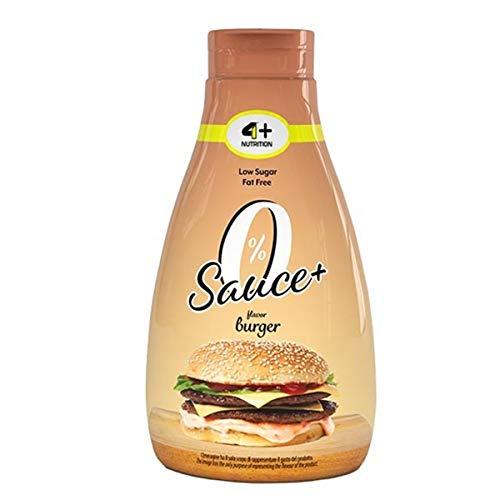 4+ NUTRITION Salsa Cero+ 1 x 425 ml Salsa Dieta Baja en calorías Baja en azúcar Baja en calorías Sin grasa 1 paquete (Burger)