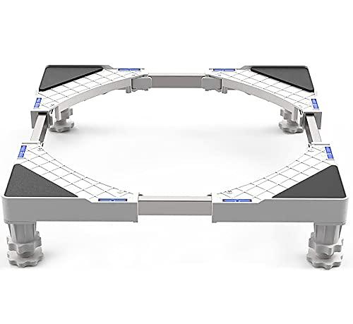 Dewel Base Lavadora Soporte Lavadora Secadora Ajustable con 4 Pies de Goma Resistentes
