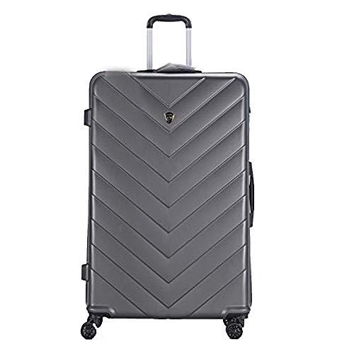 New Eagle - Maleta de Viaje con 4 Ruedas incorporadas y Cierre TSA Gris Gris Oscuro XL 32'