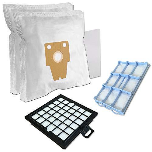 PakTrade SPARSET - Staubsaugerbeutel Filter Set - 10 Staubbeutel + 1 HEPA-Filter + 1 Motorschutzfilter geeignet für Bosch BSG8 / Siemens VS08G Serie