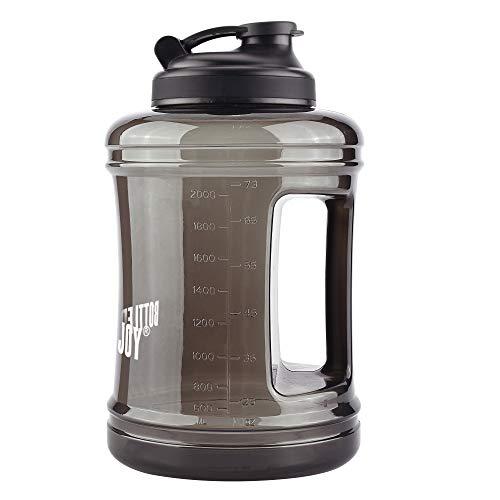 Bottled Joy Fitness-Wasserflasche, Krug, 2,5Liter, Sport-Wasserflasche, großes Fassungsvermögen, mit Griff, für Fitnessstudio, Reise, Sport.
