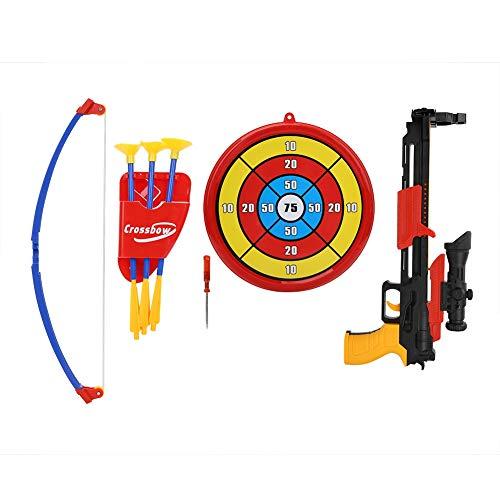 VGEBY Kinder Bogen Spielzeug Set, Armbrust Shooting Toy Kit mit Saugpfeilen, Ziel, Köcher, Schraubendreher