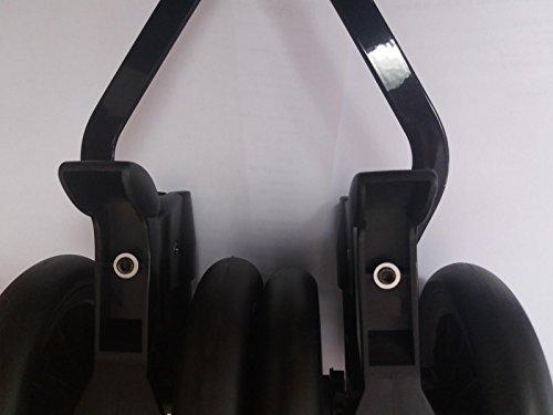 Peg Perego - Ruota posteriore doppia per Pliko Mini, colore: Nero
