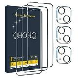 QHOHQ 3 Stück Panzerglas Schutzfolie für iPhone 13 Mini 5.4