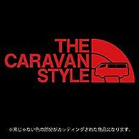 キャラバンNV350 ステッカー THE CARAVAN STYLE【カッティングシート】パロディ シール(12色から選べます) (赤)