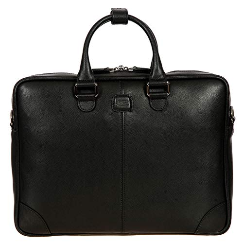 Notebooktasche der Kollektion Varese aus Leder, Einheitsgröße.Schwarz