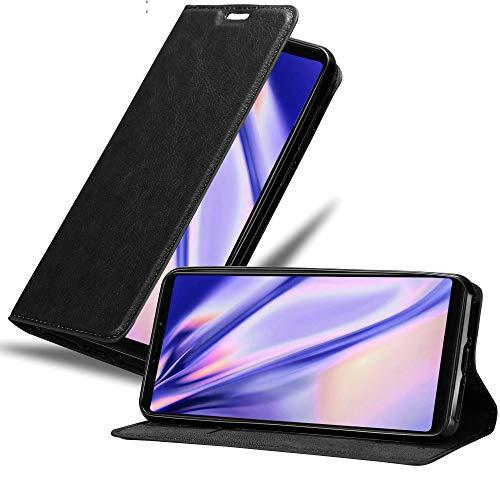 Cadorabo Funda Libro para Xiaomi Mi MAX 3 en Negro Antracita - Cubierta Proteccíon con Cierre Magnético, Tarjetero y Función de Suporte - Etui Case Cover Carcasa