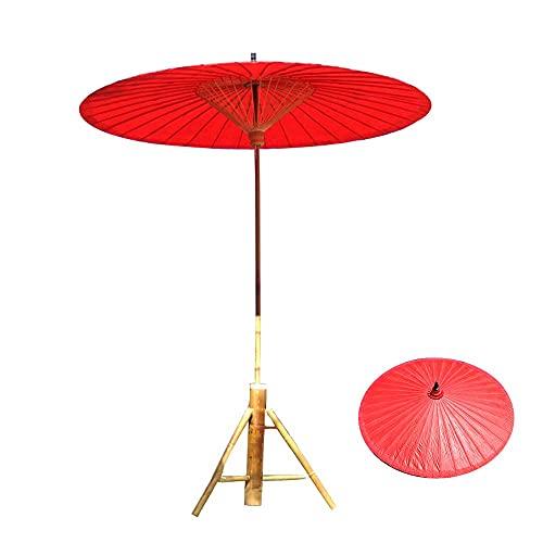 ZCYY Sombrillas de jardín, Sombrilla de Papel de Aceite para sombrilla, Clásico Oriental, Hecho a Mano, Resistencia al Viento, Mango de sombrilla de 3,5 cm, Jardín de 2 m sin Base (la b