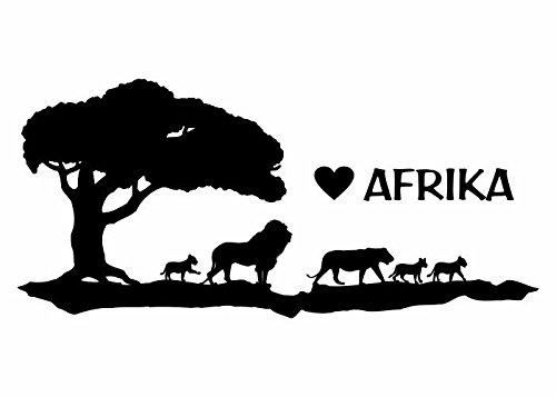 Wandtattooladen Wandtattoo - Love Afrika Größe:60x28cm Farbe: Schablone