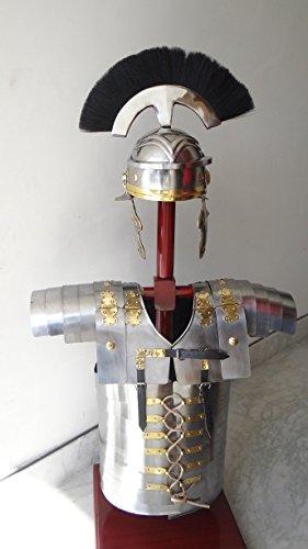 römischen Lorica Segmentata segmenta Armour + Centurion Helm Kostüm schwarz