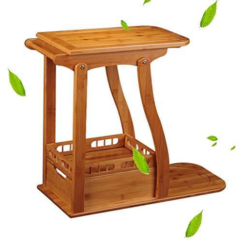 Tables basses Armoire à thé à roulettes Table à thé casier Table à thé en Bambou Armoire à thé Mobile (Color : Brown, Size : 45 * 28 * 58cm)