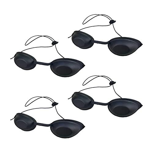 MoK 4 Piezas Gafas de Seguridad UV, Gafas de Solarium, Gafas Protectoras UV, Gafas de Seguridad para Protección UV, para Terapia de Luz LED, Depilación IPL, Protección UV