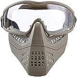 Media máscara de Casco de Airsoft con Gafas Protectoras extraíbles, máscara de Hormiga táctica Airsoft Paintball