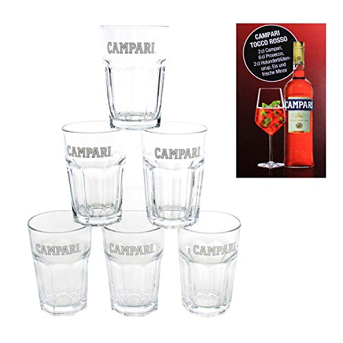 Campari Orange Glas x 6 | 6er Set 36 cl Juice Glass 6h3m