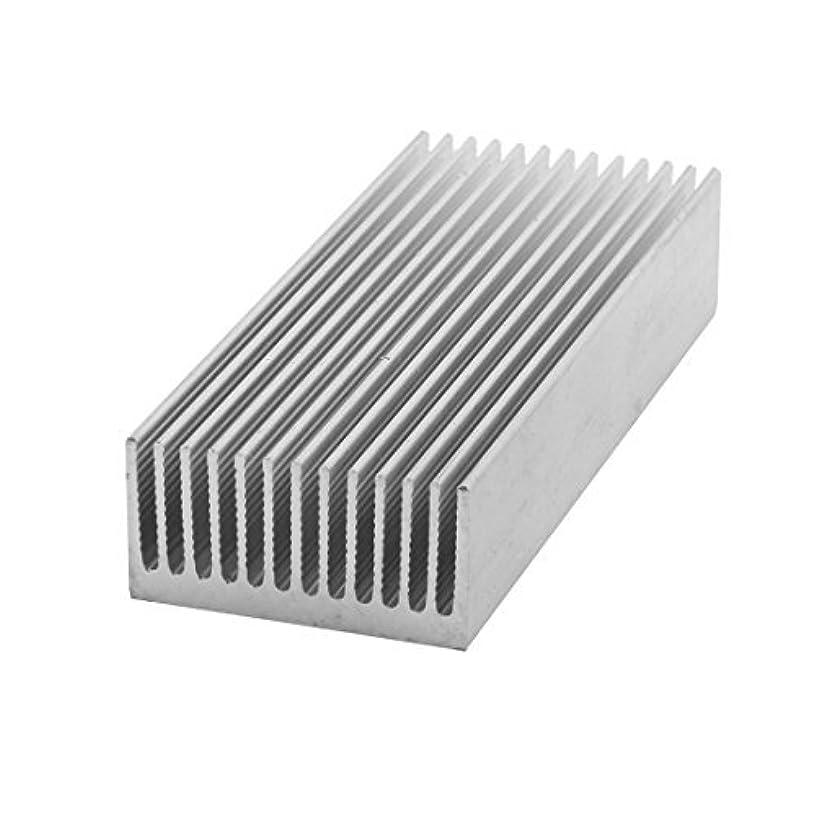 DealMux Aluminum PC Heat Sink Radiator Fin Heatsink 100 x 40 x 20mm Silver Tone