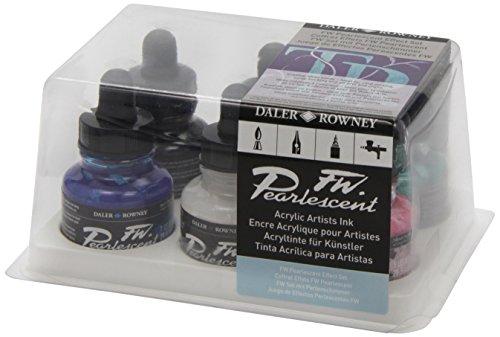 Daler - Rowney FW 29.5ml Ink Bottle - Pearlescent Effect (Set of 6)