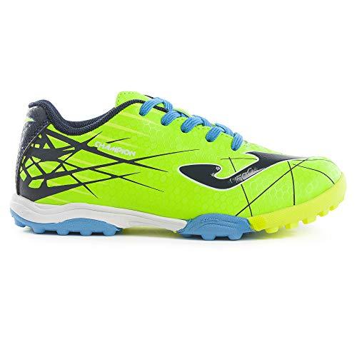 Joma Champion JR Turf - Zapatillas de fútbol (talla 35), color verde
