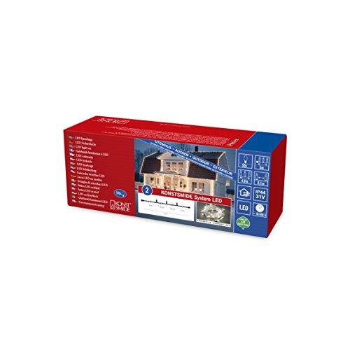 Konstsmide 4850-107 LED Hightech System Erweiterung / Lichterkette / für Außen (IP44) / 50 warm weiße Dioden / schwarzes Softkabel